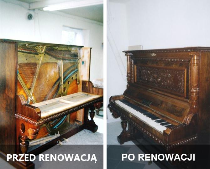 renowacja antyków - pianino