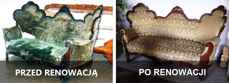 renowacja antyków - sofa
